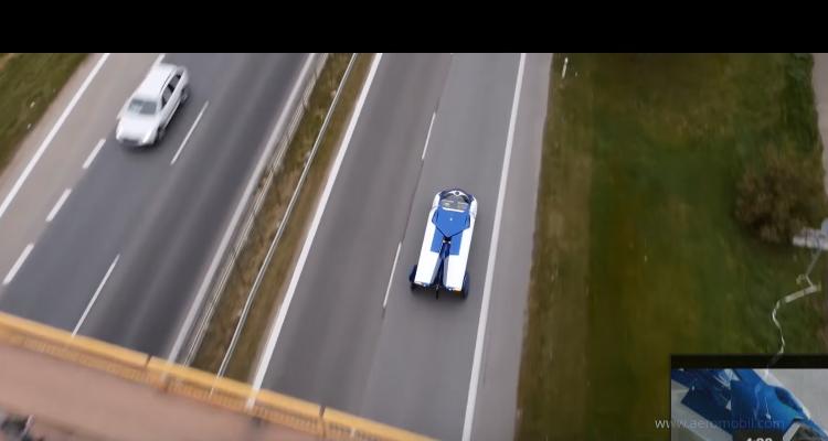 14 Aeromobil 3.0 voiture volante – sur la route