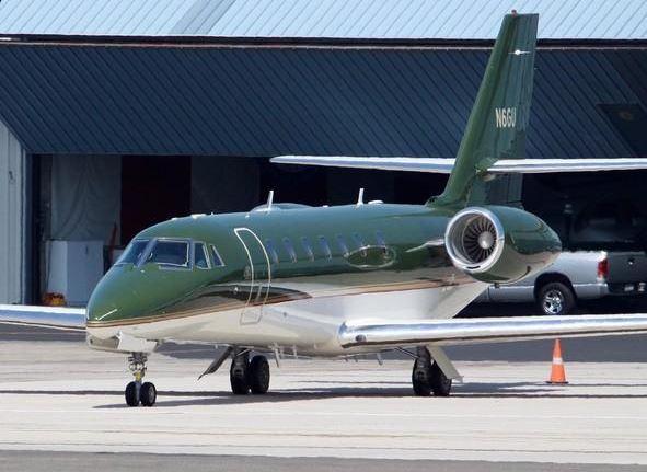 10 Harrison Ford – Cessna 680 – prix $18 millions et 12 passagers