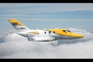 2 Honda jet privé en vol