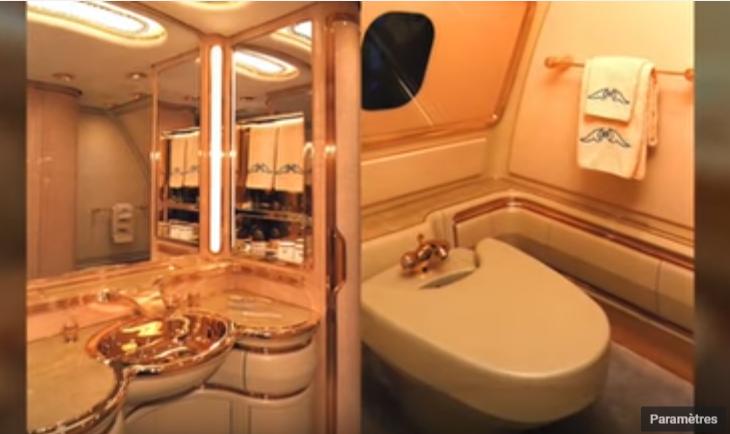 03 – Hassanal Bolkiah's Boeing 747 – $230 million – salle de bains en or