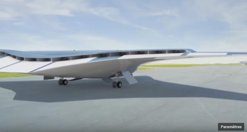 avion expérimental avec générateur à turbine qui alimente plusieurs moteurs électriques