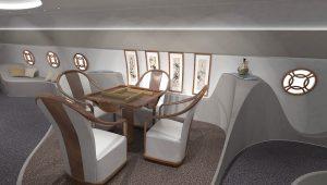 intérieur de jet privé Feng Shui
