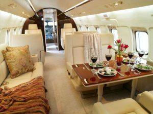 Intérieur d'avion privé