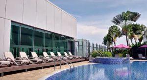 aéroport Changi de Singapour-piscine