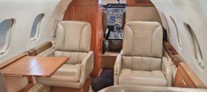 Bombardier · Learjet 55 - intérieur