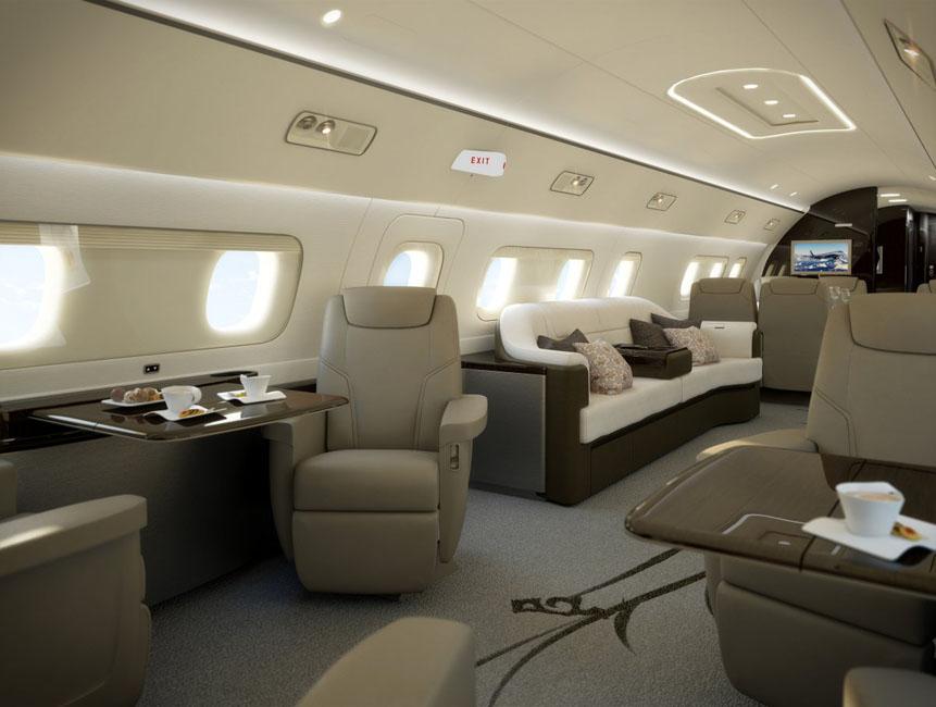 Embraer Lineage 1000E a cinq zones de cabine séparées