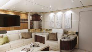 Le Boeing 747-8 VIP offre 444 m² d'espace avec bureau, salle à manger, living