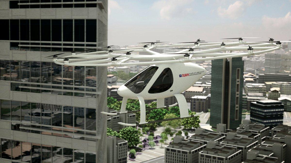 Le Volocopter en vol