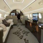 la cabine de l'Embraer Lineage 1000E