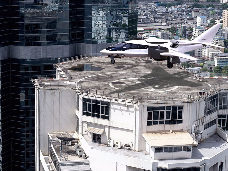 Le jet XTI Aircraft TriFan 600 - atterrissage