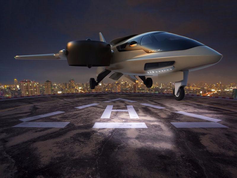 Le jet XTI Aircraft TriFan 600 au décollage
