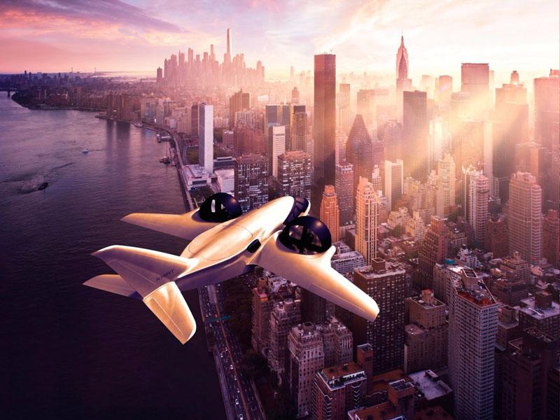 Le jet XTI Aircraft TriFan 600 en vol