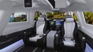L'avion privé XTI Aircraft TriFan 600 - intérieur