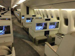 Il a la cabine VIP plus large en commerce pour un avion privé - photo Sarah Kimmorley
