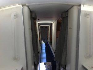 il y a aussi des couchettes pour les agents de bord - photo Sarah Kimmorley