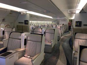 intérieur du Boeing 777 - photo Sarah Kimmorley