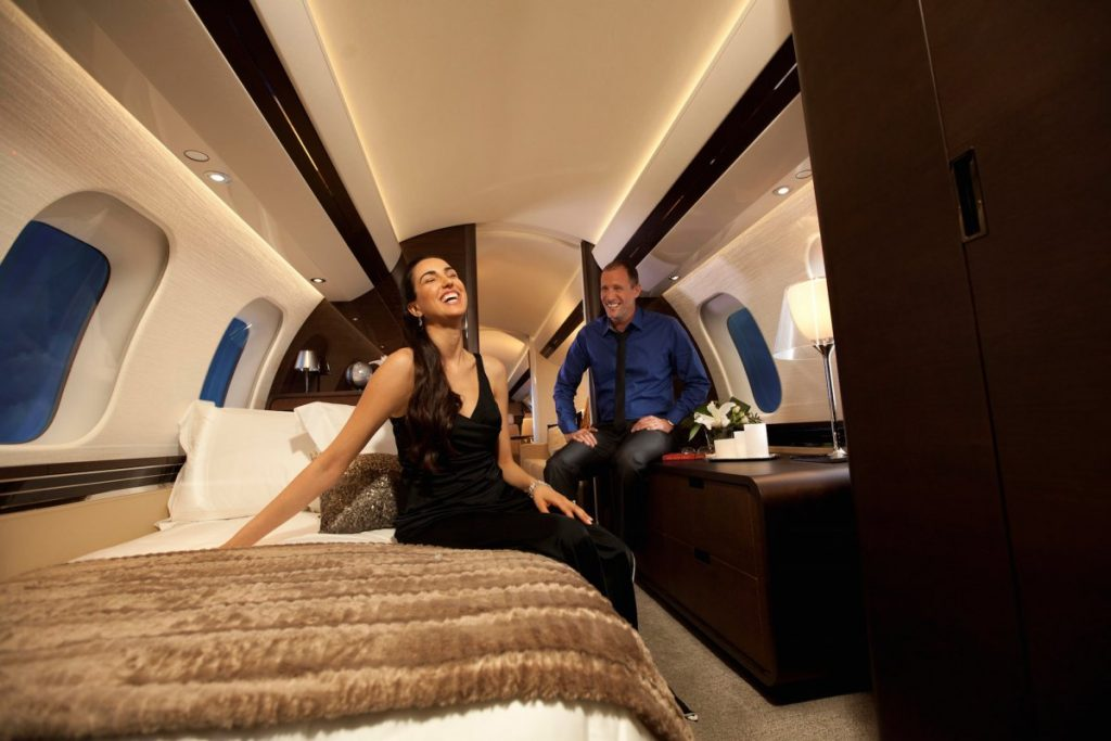 Bombardier Global 7000 - intérieur avec lits
