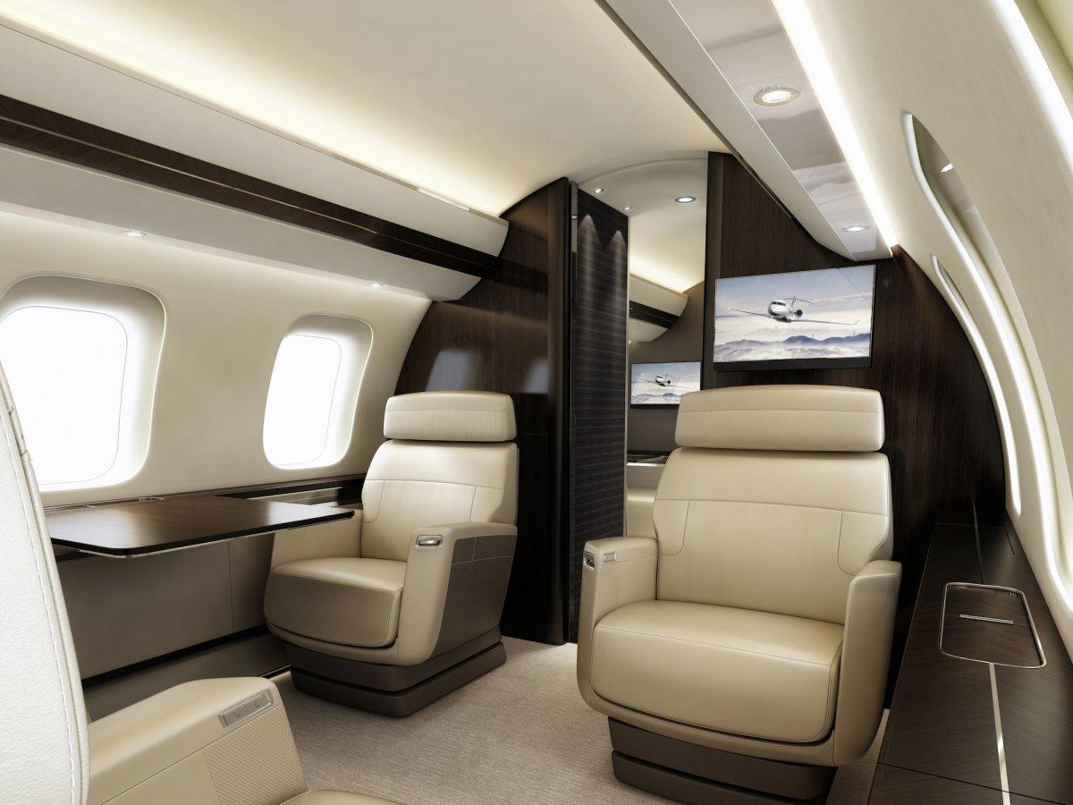 Bombardier Global 7000 - intérieur