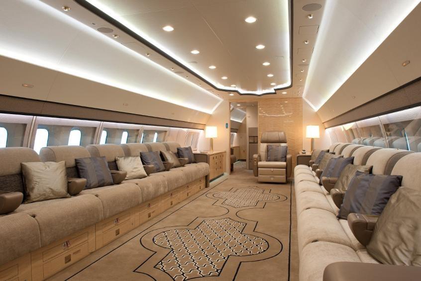 un jet privé de Boeing