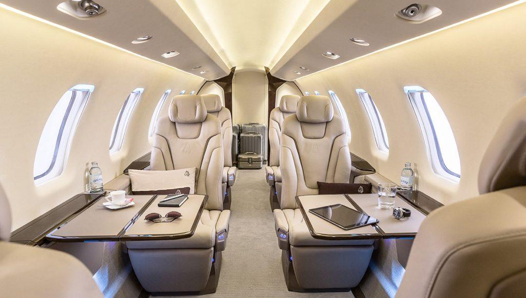 Jet privé Pilatus PC-24 - intérieur