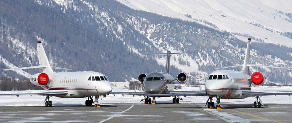 Jets privés à St. Moritz