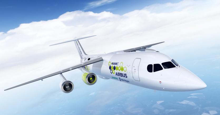 avion électrique Airbus Siemens Rolls-Royce