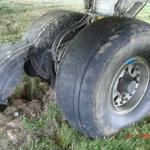 pneus d'avion usés