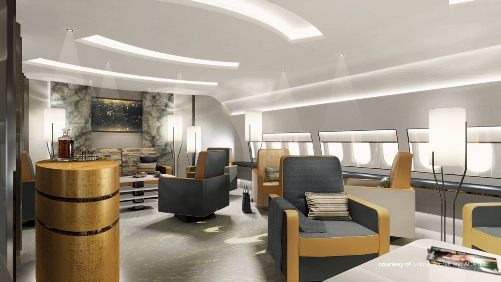 Unique Aircraft Design - lounge