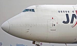 Boeing 747 converti en cargo avec bouchons aluminium sur les fenêtres. Photo crédit Flickr