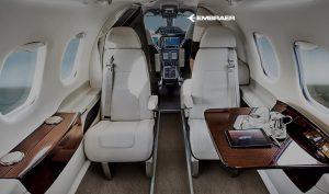 Embraer Phenom 100 cabine - Photo Embraer
