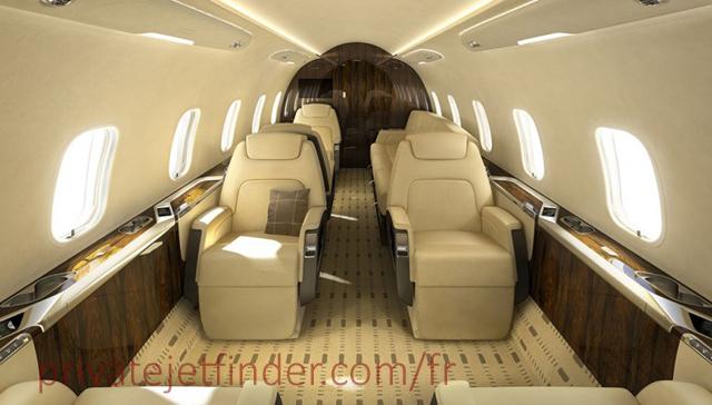 Bombardier Challenger - intérieur