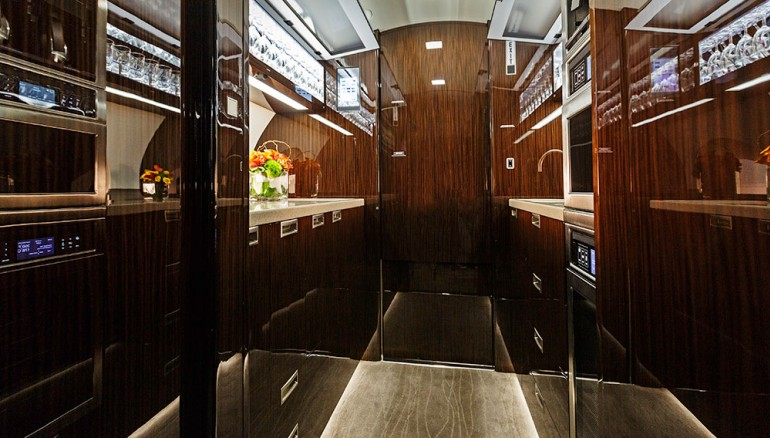 Gulfstream-G650-ER - le bar