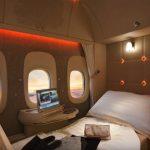 première classe Emirates airlines - lit