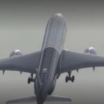 Airbus A350 1000 au décollage, presque vertical!