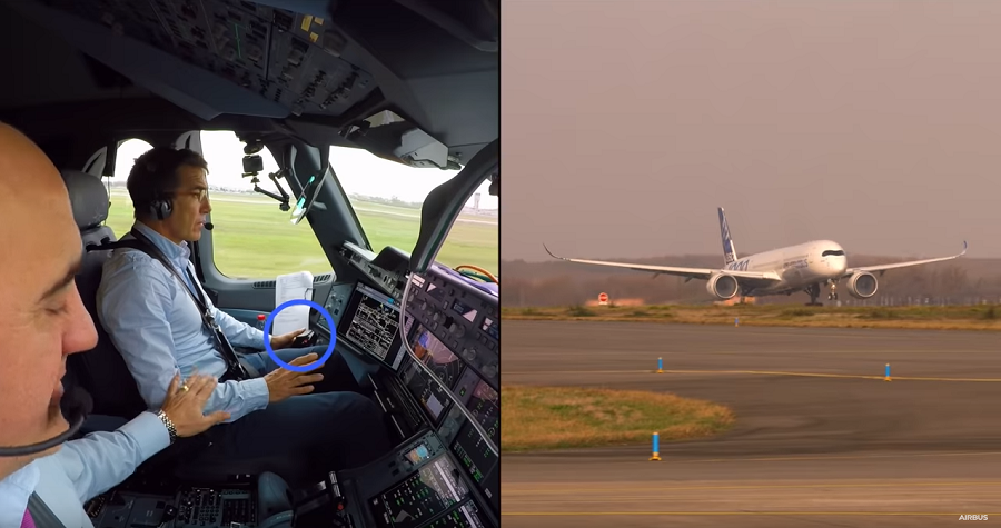 Airbus A350 1000 avec pilote automatique pour le décollage