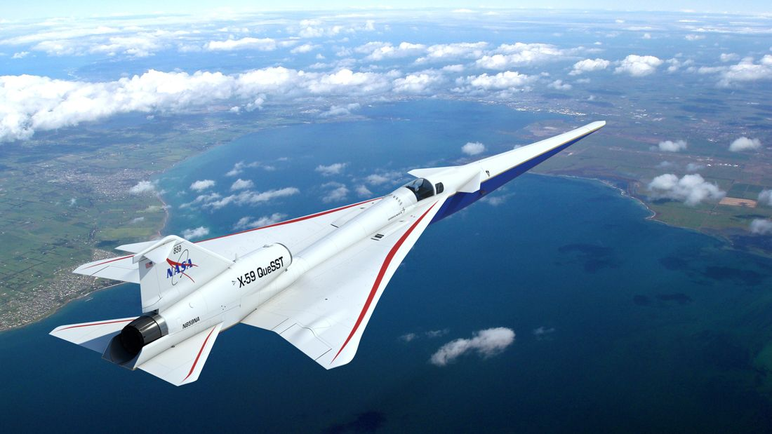 Le X-59 QueSST en vol - photo Lockheed Martin
