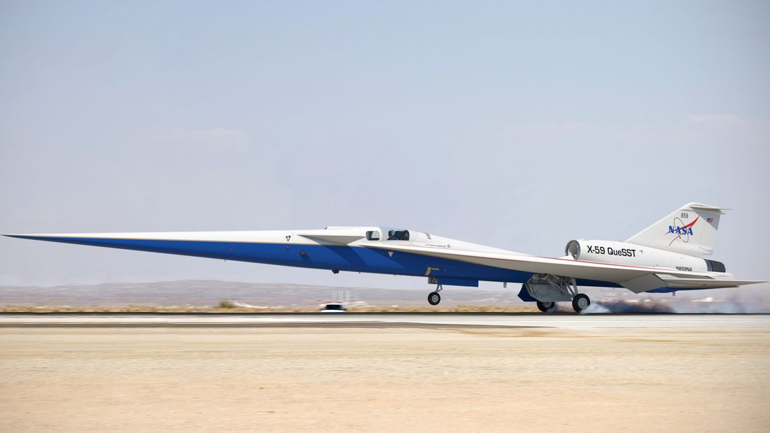 The X-59 QueSST (Quiet SuperSonic Technology) de Lockheed Martin - photo Lockheed Martin