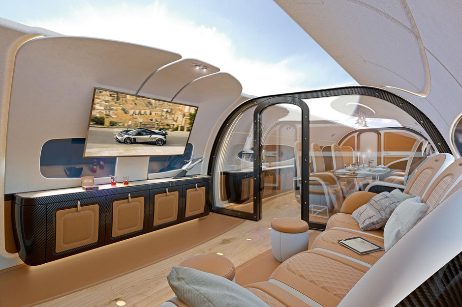 ACJ319 Infinito cabin cinema