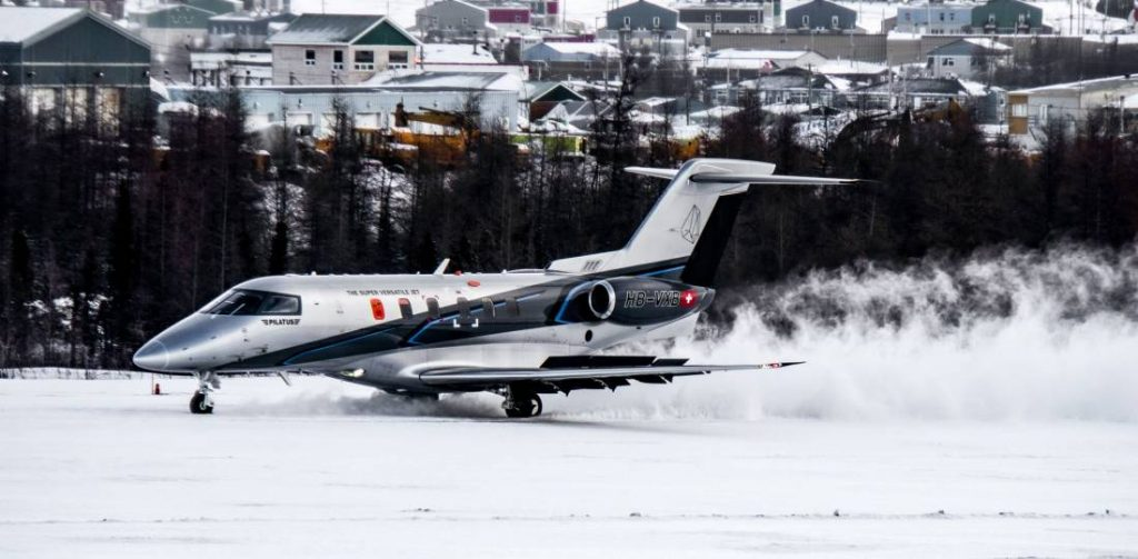 Pilatus PC-24 sur la neige