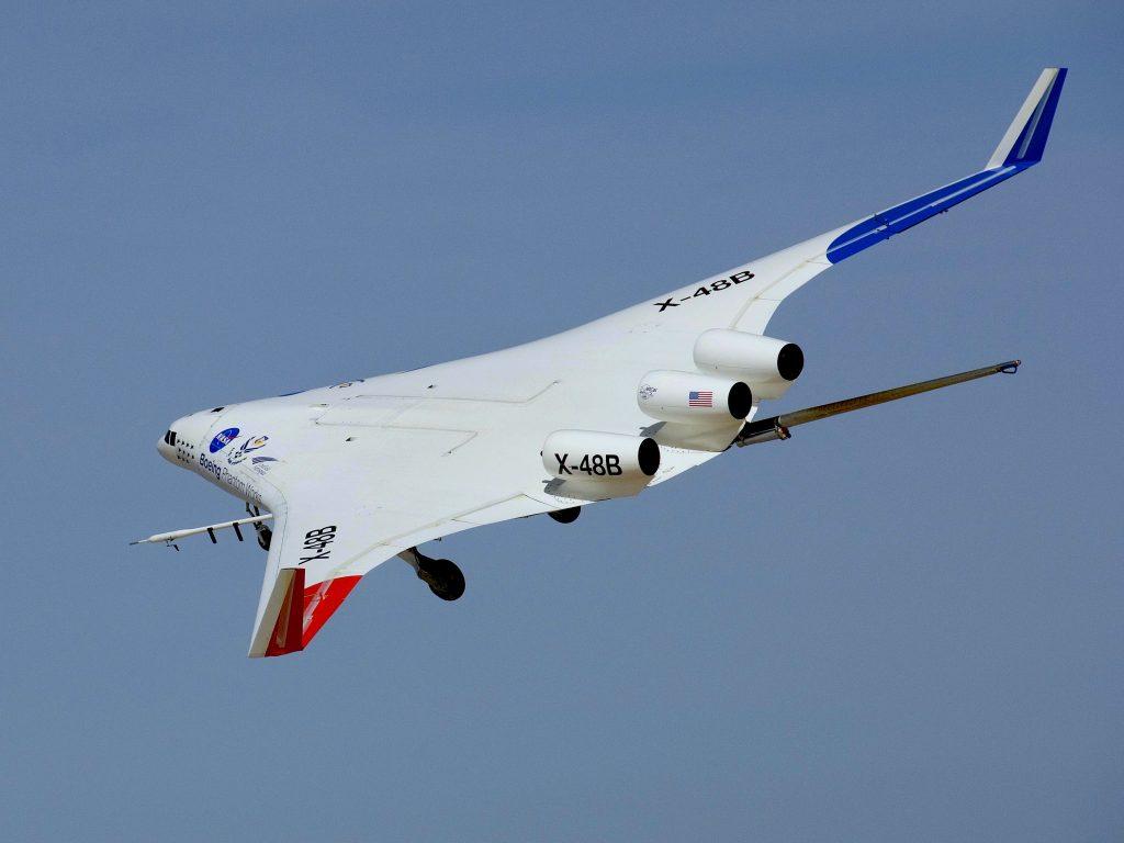 Le X-48B - photo de la NASA
