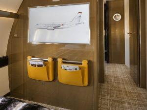 03 Airbus ACJ319 chambre à coucher avec télé haute définition - photo Cabinet Alberto Pinto