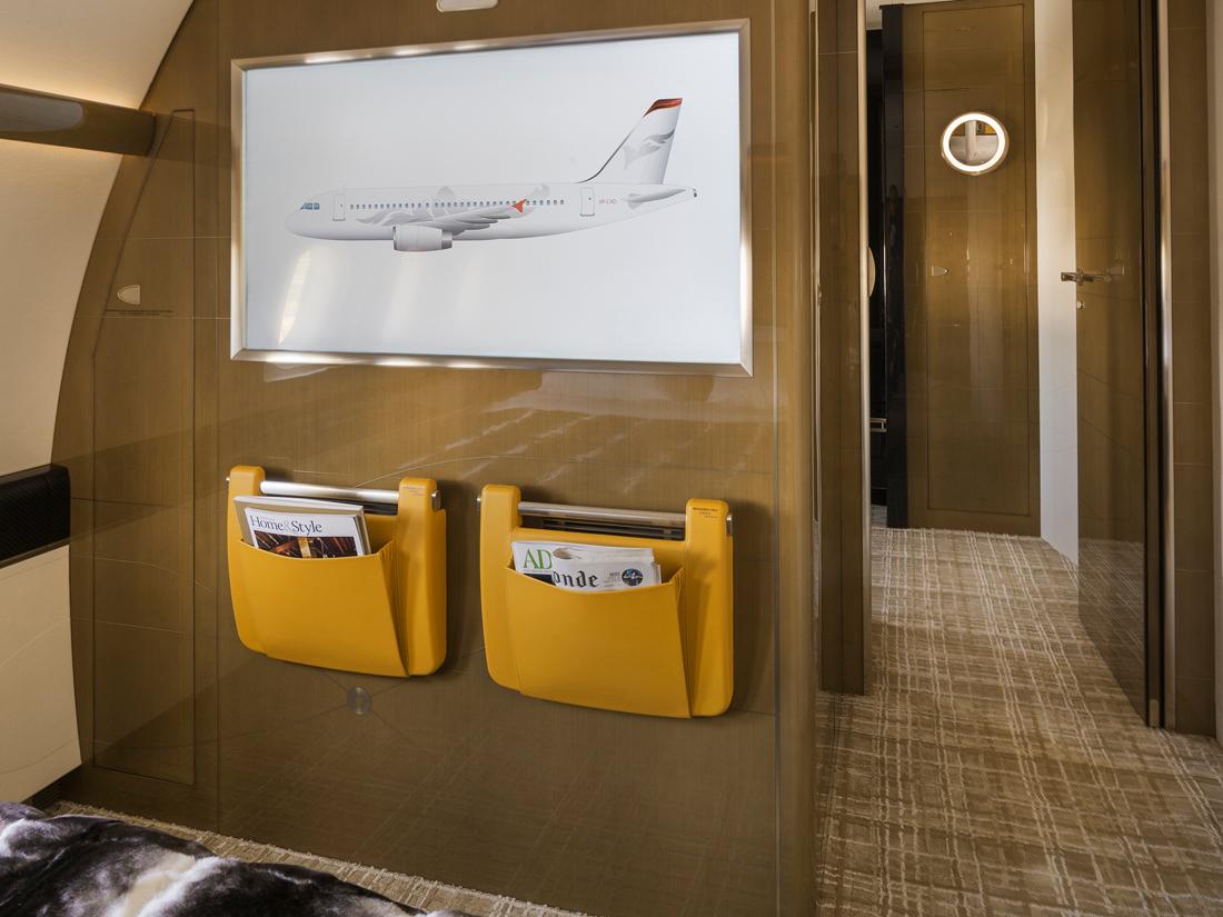 03 Airbus ACJ319 chambre à coucher avec télé haute définition – photo Cabinet Alberto Pinto
