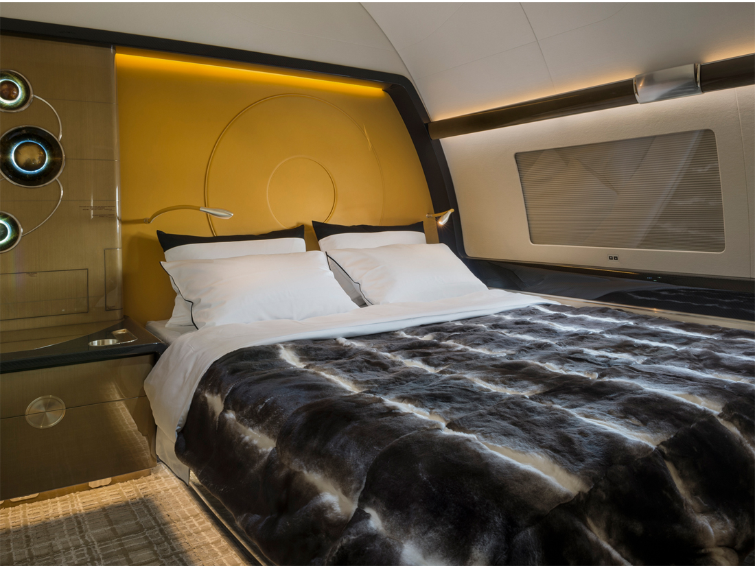 02 Airbus ACJ319 chambre à coucher – photo Cabinet Alberto Pinto