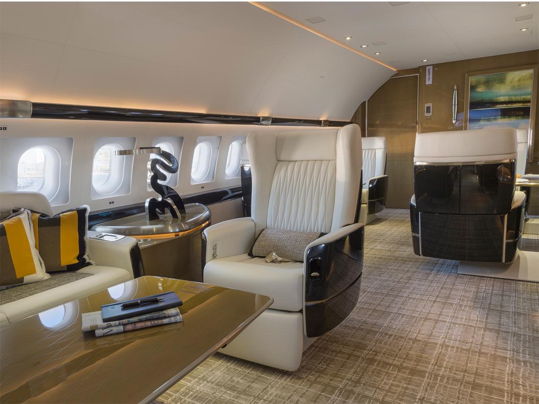 08 Airbus ACJ319 chaque chaise a des diviseurs pour la privacy – photo Cabinet Alberto Pinto