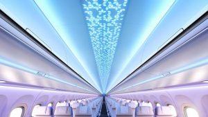 Cabine de l' A320neo - plafond