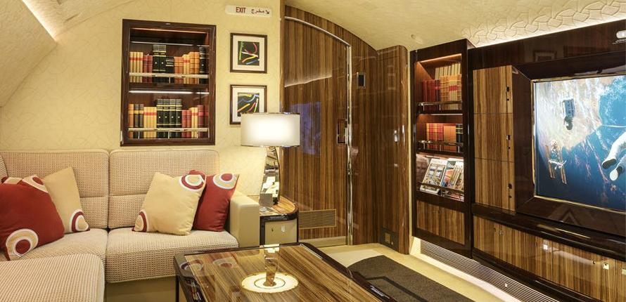 Boeing BBJ 747-8 by Cabinet Alberto Pinto – living