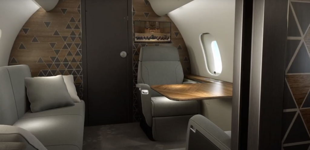 Bombardier Global 5500 - living cabine