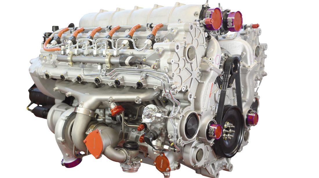 Le 12 cylindres A03 développe 368 Kilowatt (500 CV)