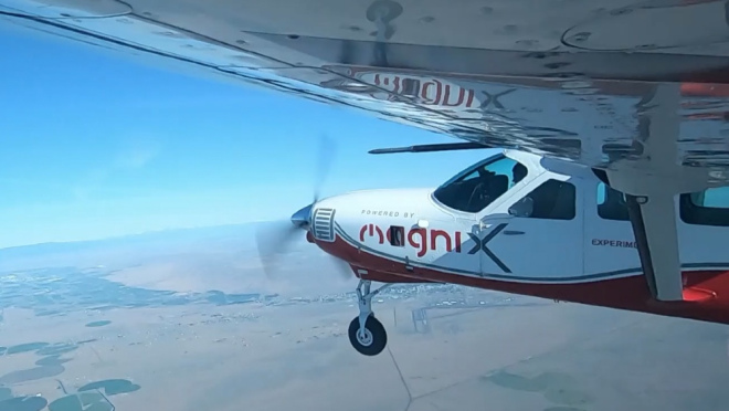 Magnix E-Caravan-photo courtoisie de MagniX
