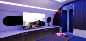 Airbus ACJ220 - La télévision à écran large